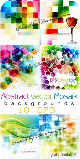 Abstract vector mosaik backgrounds