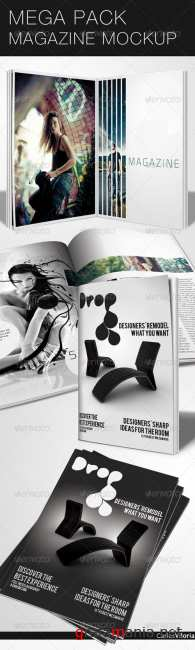 Mega Pack Magazine Mock-Up - GraphicRiver