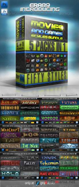 Movies & Games Styles Premium BUNDLE - GraphicRiver