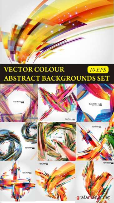 Vector colour abstract backgrounds