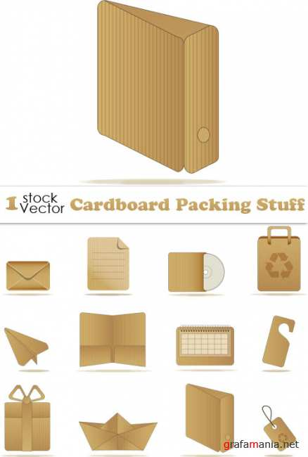Cardboard Packing Stuff Vector