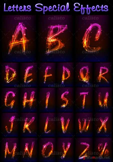 Letters brilliant special effects - Vector