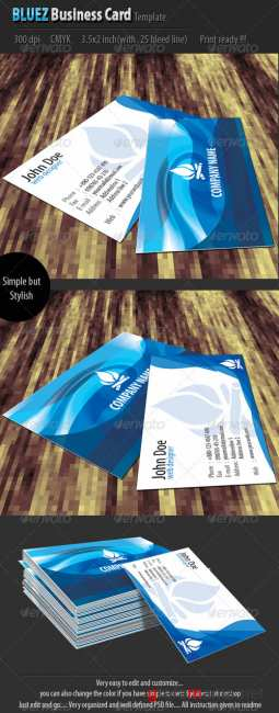 Bluez Business Card Template - GraphicRiver