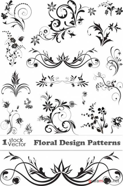 Floral Design Patterns Vector