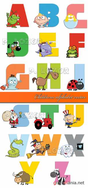 Childrens alphabet vector