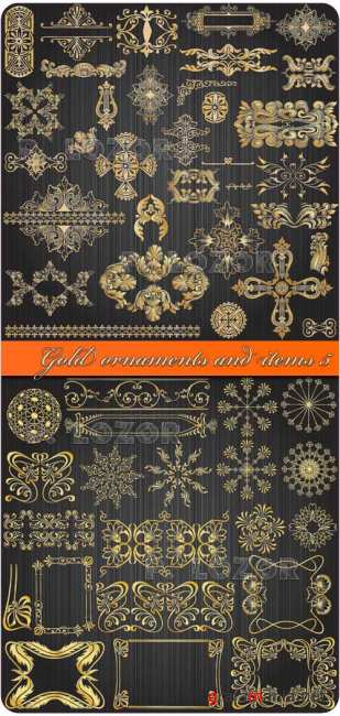 Gold ornaments and items 5