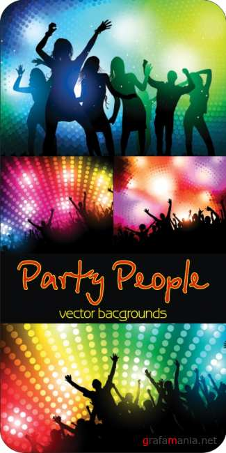 Party people - vector bacgrounds