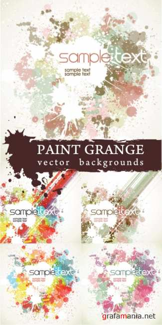 Paint grange vector bacgrounds