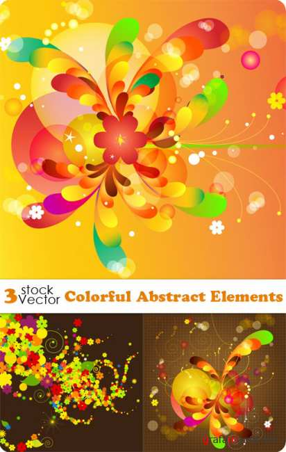 Colorful Abstract Elements Vector
