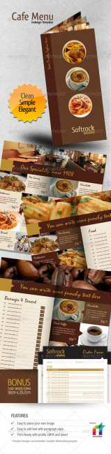Cafe Menu Indesign Template - GraphicRiver