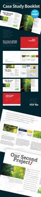 Case Study Booklet (8 pages) - GraphicRiver