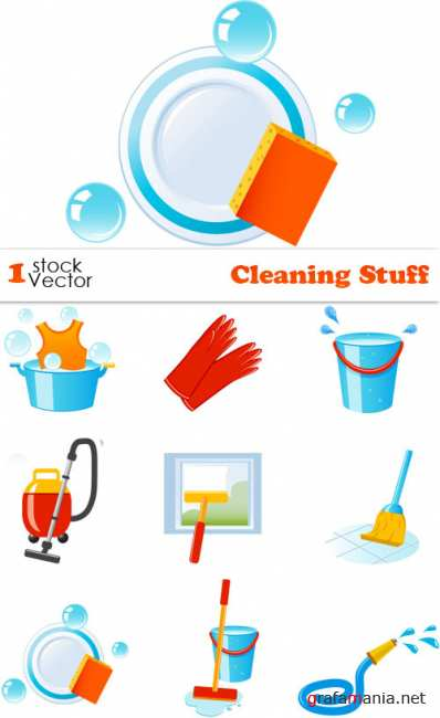 Cleaning Stuff Vector