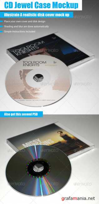GraphicRiver - CD Jewel Case Mockup