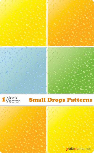 Small Drops Patterns Vector