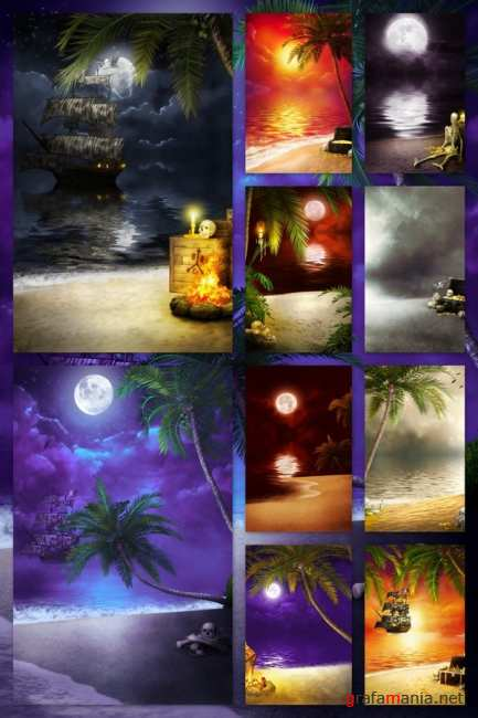 Backgrounds Pirate Beaches
