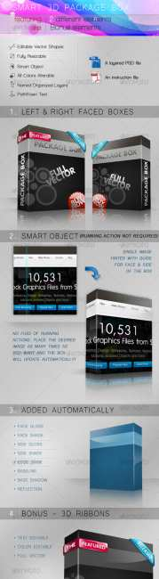 GraphicRiver - Smart 3D package box
