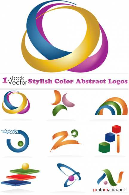 Stylish Color Abstract Logos Vector