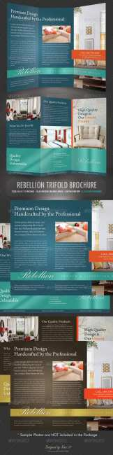 GraphicRiver - Rebellion Trifold Brochure - PSD Template
