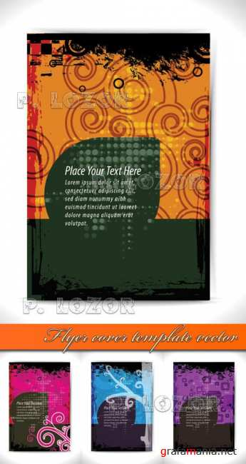 Flyer cover template vector