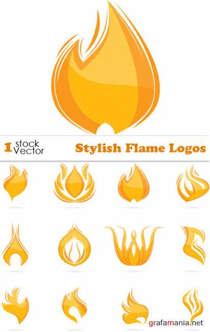 Stylish Flame Logos Vector