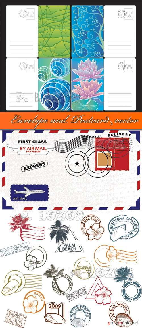 Envelope and Postcard vector