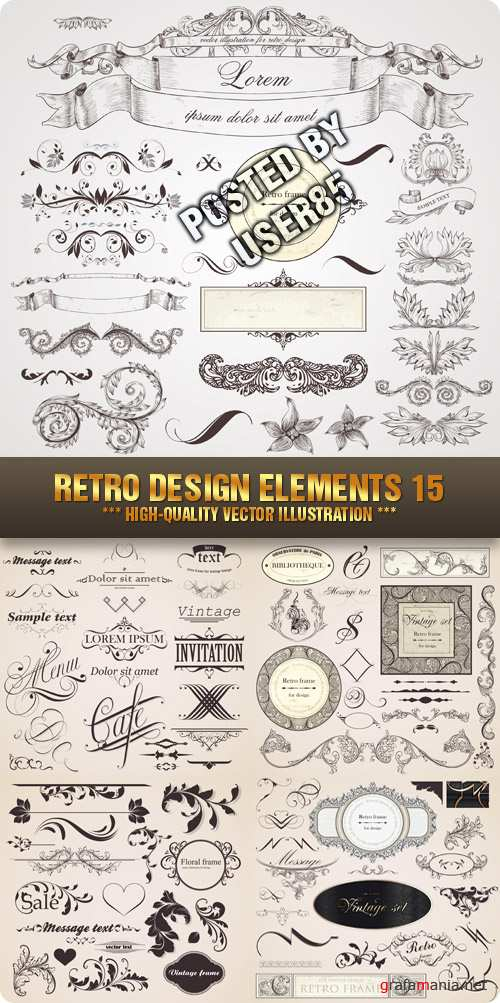 Stock Vector - Retro Design Elements 15