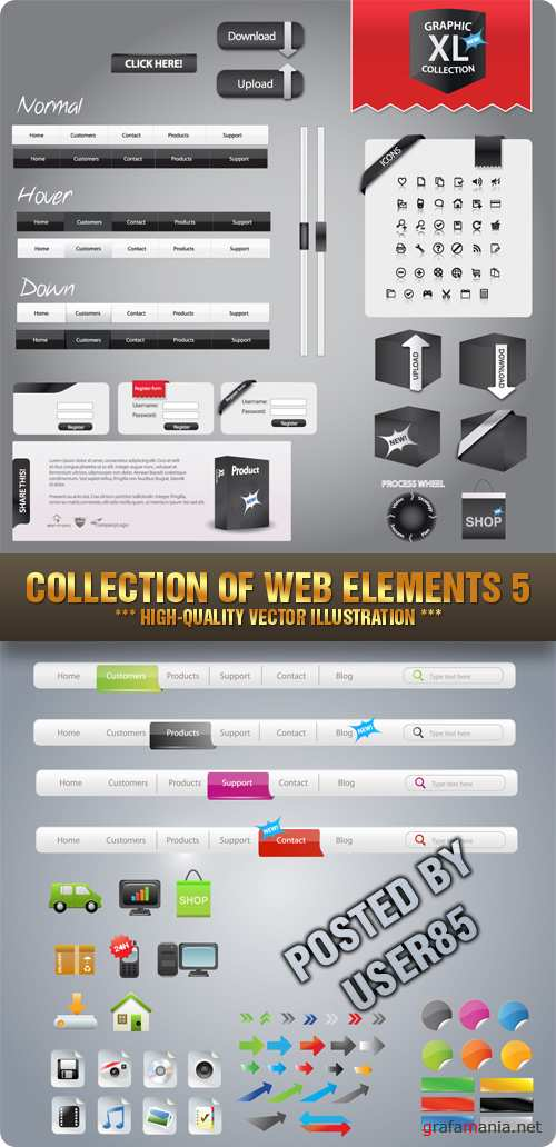 Stock Vector - Collection Of Web Elements 5
