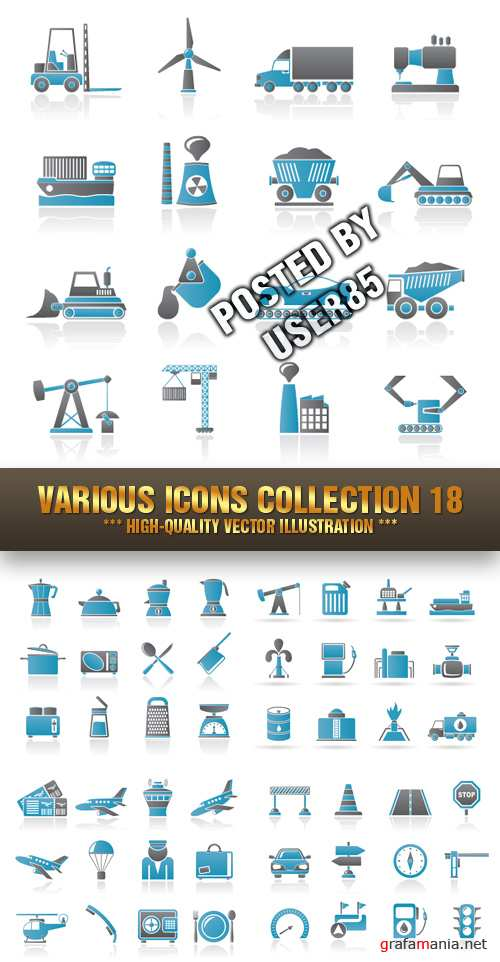 Stock Vector - Various Icons Collection 18