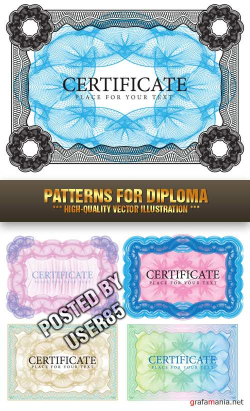 Stock Vector - Patterns for Diploma