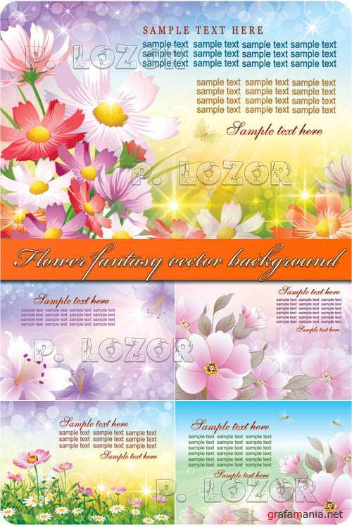 Flower fantasy vector background