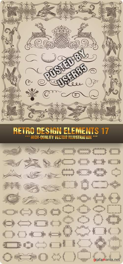 Stock Vector - Retro Design Elements 17