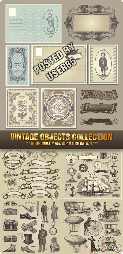 tock Vector - Vintage Objects Collection