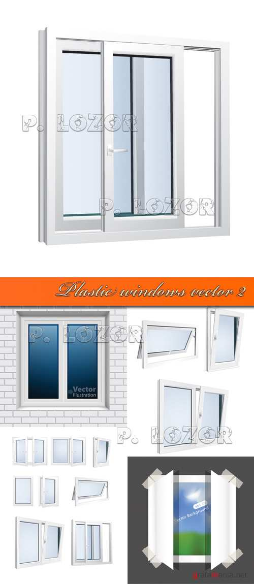 Plastic windows vector 2