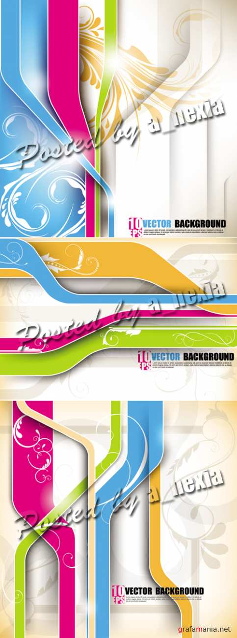 Abstract Color Lines Backgrounds Vector