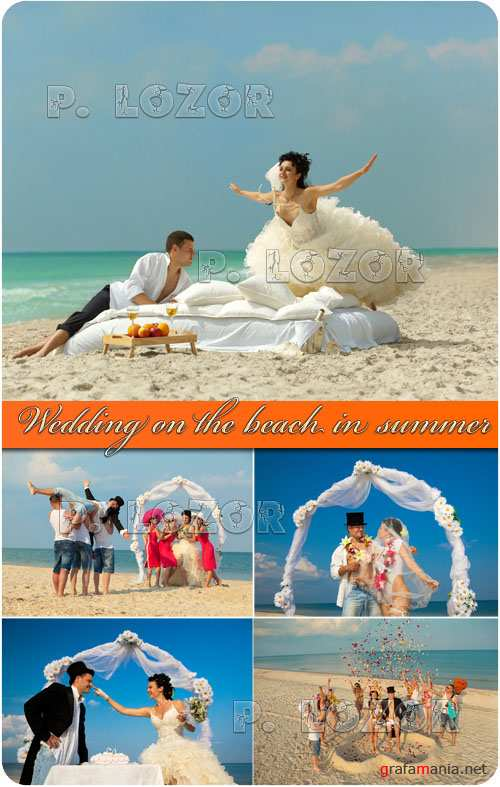 Wedding on the beach in summer