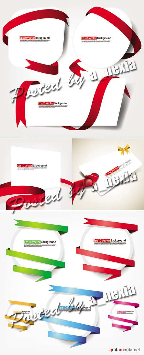 Design Elements with Ribbons Vector