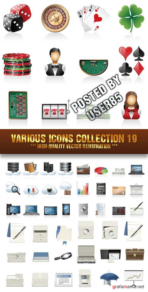Stock Vector - Various Icons Collection 19