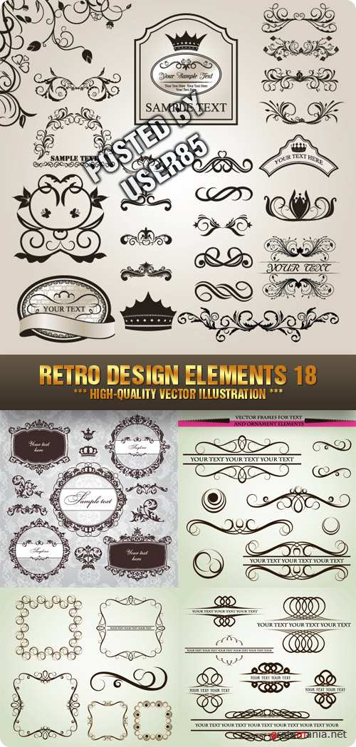 Stock Vector - Retro Design Elements 18