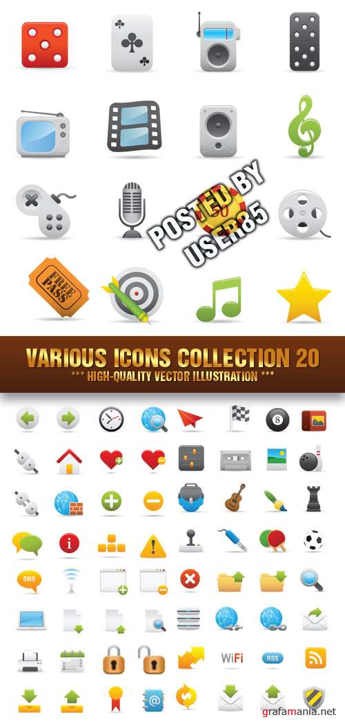 Stock Vector - Various Icons Collection 20