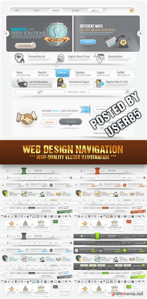 Stock Vector - Web Design Navigation