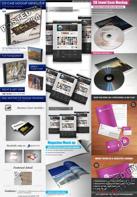 Graphicriver Super Clean Web Business Card CD MockUp's