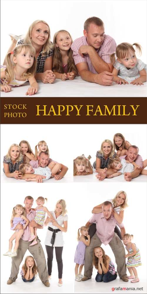 Stock photo - Happy Family - семья