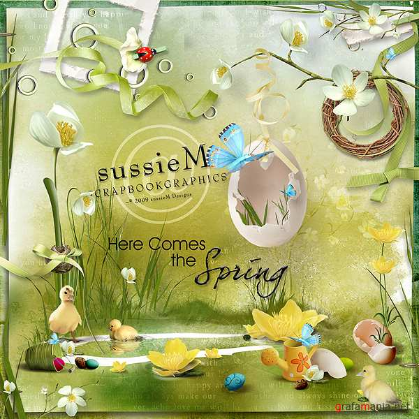 Scrap kit   Here Comes the Spring