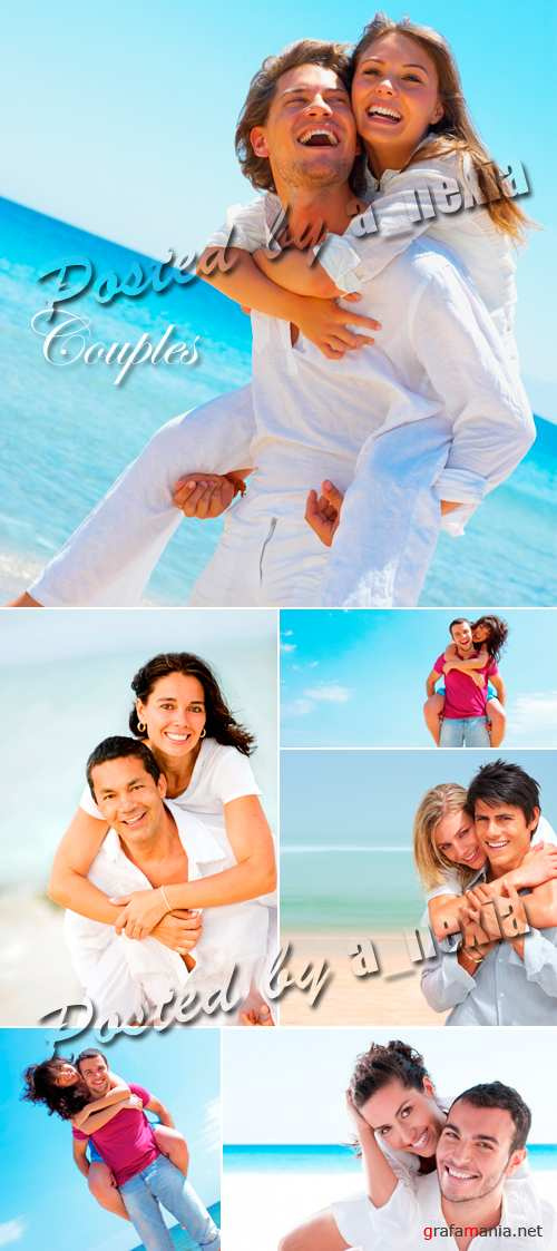Stock Photo - Couples on the Beach