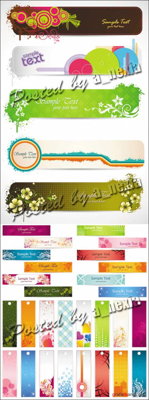 Color Banners & Bookmarks Vector