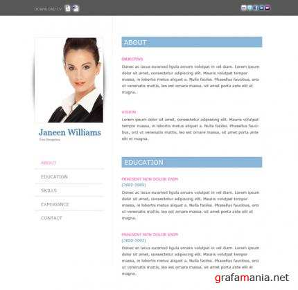 TemplateWorld - Janeen Williams Resume Template - RiP