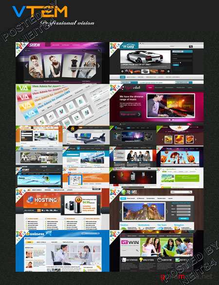 All paid templates Joomla developers VTEM