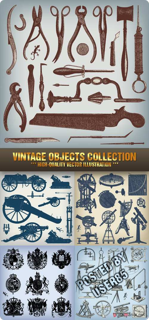 Stock Vector - Vintage Objects Collection