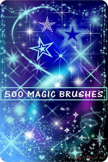 ����� ��� ������� - �����, ����������, ������ / Brushes for a photoshop - stars, fireworks, lights