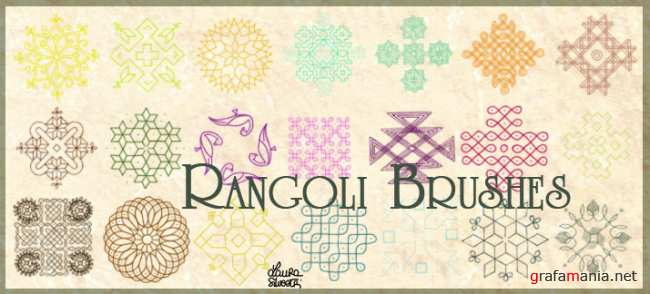 Кисти Ранголи / Rangoli brushes